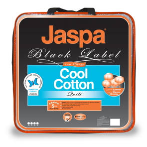 Cool Cotton Quilt by Jaspa Black