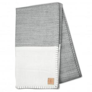 Modern Border Grey White Blanket by Scout