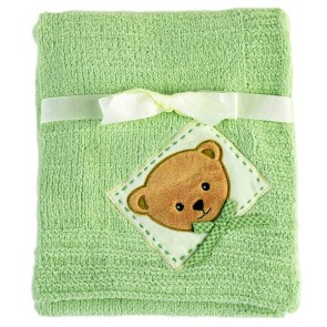 Dream Teddy Chenille Blanket by Lambs & Ivy