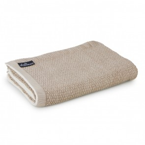 Latte Cotton Throw Rug by St Albans