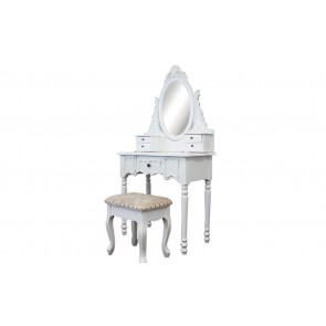 Dressing Table 5 Drawers With Mirrors & Stool 02 by Living Good