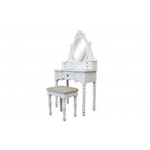Dressing Table 5 Drawers with Mirrors & Stool 01 by Living Good