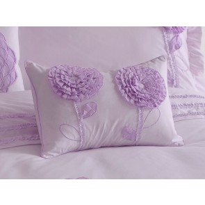 Floret 2 Flowers Filled Cushion by Whimsy