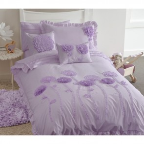 Floret Lilac Quilt Cover Set by Whimsy