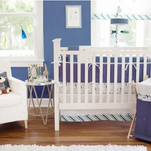 Follow Your Arrow in Navy Crib Bumper by Petit