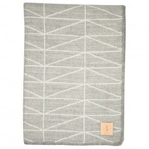Geo Grey White Throw by Scout