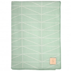 Geo Mint White Throw by Scout