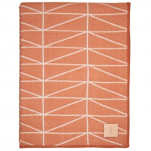 Geo Tangerine White Throw by Scout