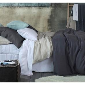 Laundered Linen Super King NZ & Aust Sheet Set by MM Linen