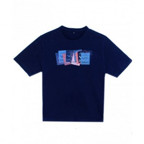 Next Let's Go Fishing Embroidered Blue T-Shirt