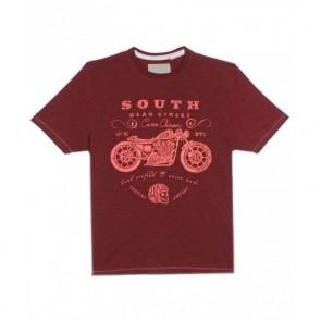 Next UK Crimson Color Round Neck T-Shirt