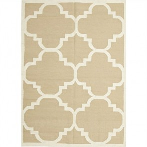 Nomad Hand Knotted Weave Moroccan Design Woolen Rug by Unitex
