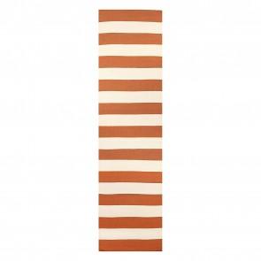 Nomadic Charm Stripe Orange Runner Rug