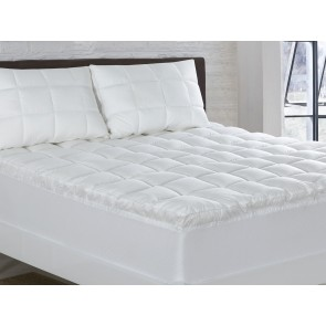Relax Right 1000 GSM Super King Microfibre Mattress Topper by Bianca