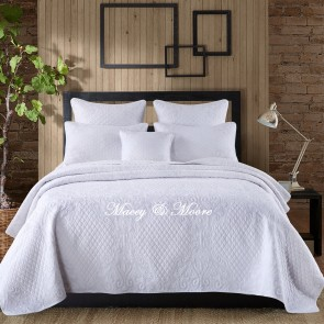 Snowflake Super King Coverlet by Macey & Moore