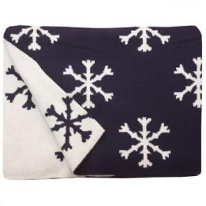 Snowflake Navy 100% Cotton Pram/Bassinet Blanket by Jacob $ Bonomi