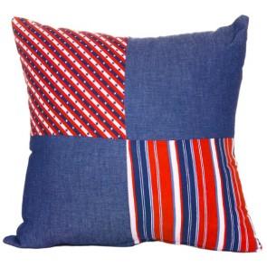 Stars & Stripes Breakfast Cushion by Lullaby Linen