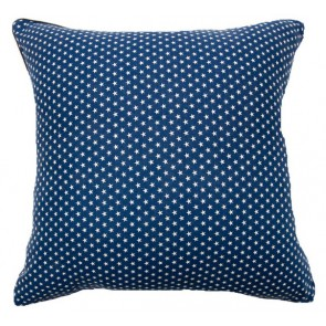 Stars & Stripes White Star Cushion by Lullaby Linen