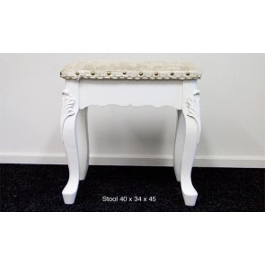 Plain Stool in White by Living Good
