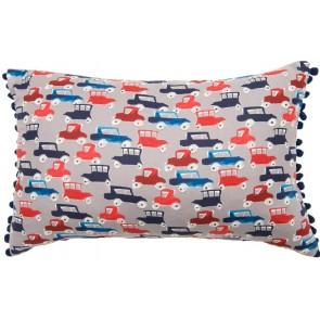 Traffic Jam Breakfast Cushion by Lullaby Linen