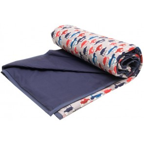 Traffic Jam Baby Cot Comforter by Lullaby Linen