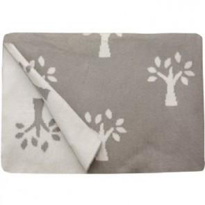 Tree of Life Grey 100% Cotton Pram/Bassinet Blanket by Jacob & Bonomi