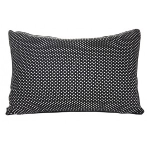 Cameo White Dot Cushion by Lullaby Linen