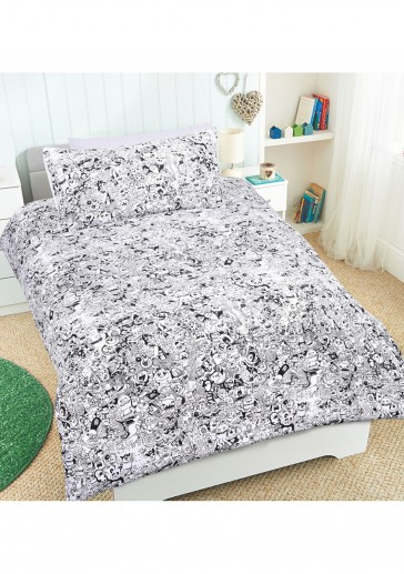 BOO Glow in the Dark Quilt Cover Set by Happy Kids