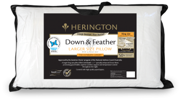 Down & Feather King Size Pillow by Herington
