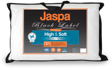 High & Soft Pillow by Jaspa Black