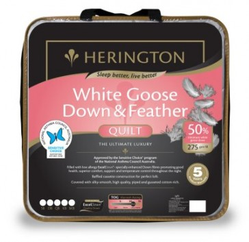 50% Goose Down & Feather Single Luxury Quilt by Herington