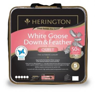 50% Goose Down & Feather Queen Luxury Quilt by Herington