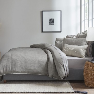 """""""Belmont"""" Quilt Cover Set- Soot"""