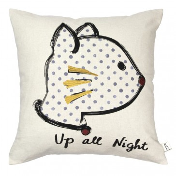 Up All Night Filled Cushion