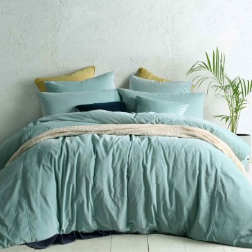 Mist Green Cotton Velvet Quilt Cover Set
