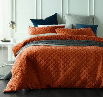 Diamond Nectar Quilted Cotton Velvet Quilt Cover Sets