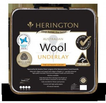 Wool Washable Queen Underlay by Herington
