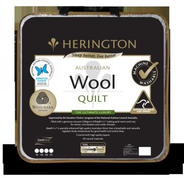 Wool Double Machine Washable Quilt by Herington