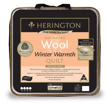 Wool Winter Warmth King Quilt by Herington