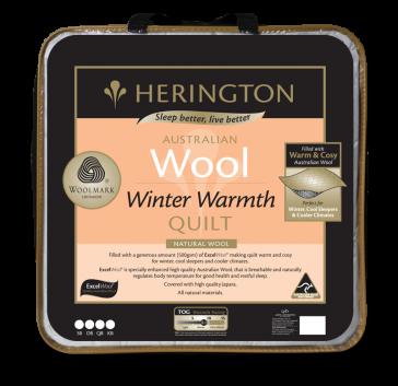 Wool Winter Warmth Queen Quilt by Herington