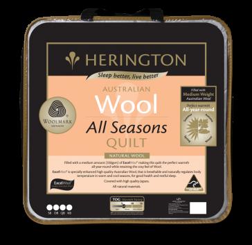 Wool All Seasons Queen Quilt by Herington