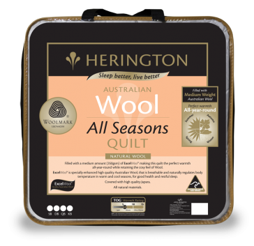 Wool All Seasons Queen Quilt by Herington