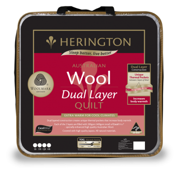 Wool Dual Layer King Quilt by Herington