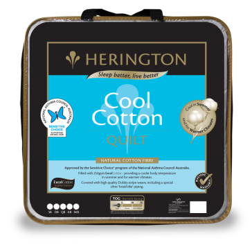 Cool Natural Super King Cotton Quilt by Herington