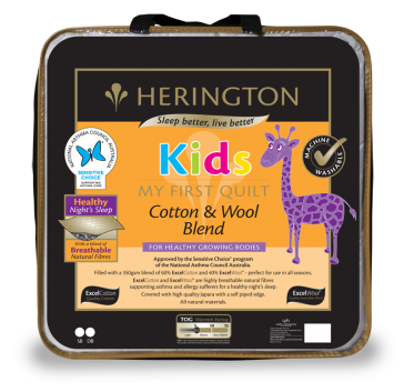 Kids Cotton & Wool Blend Single Quilt by Herington