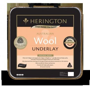 Natural Wool King Single Underlay by Herington