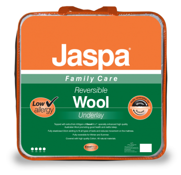Wool Queen Reversible Underlay by Jaspa