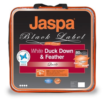 White Duck Down & Feather Double by Jaspa Black