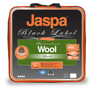Wool Warm & Cosy Queen Quilt by Jaspa Black
