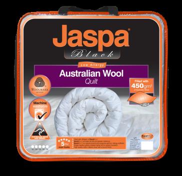 Wool Luxurious Single Machine Washable by Jaspa Black